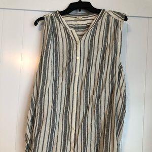 Lucky Brand linen striped tank top.